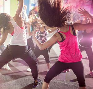 group of people at urban dance class